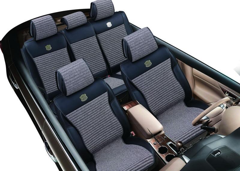 Flax Car Seat Cushion Slim Shape