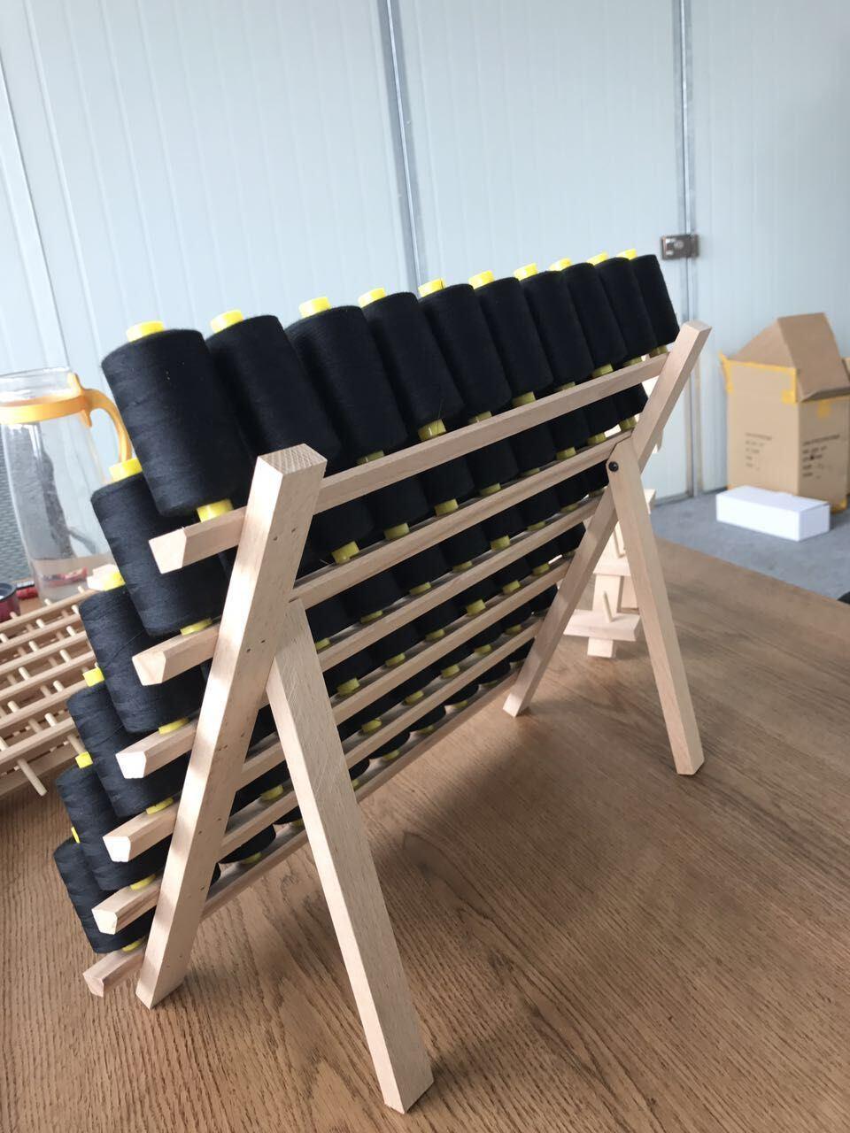 Wooden Thread Rack, Thread display Unit, Thread Stand