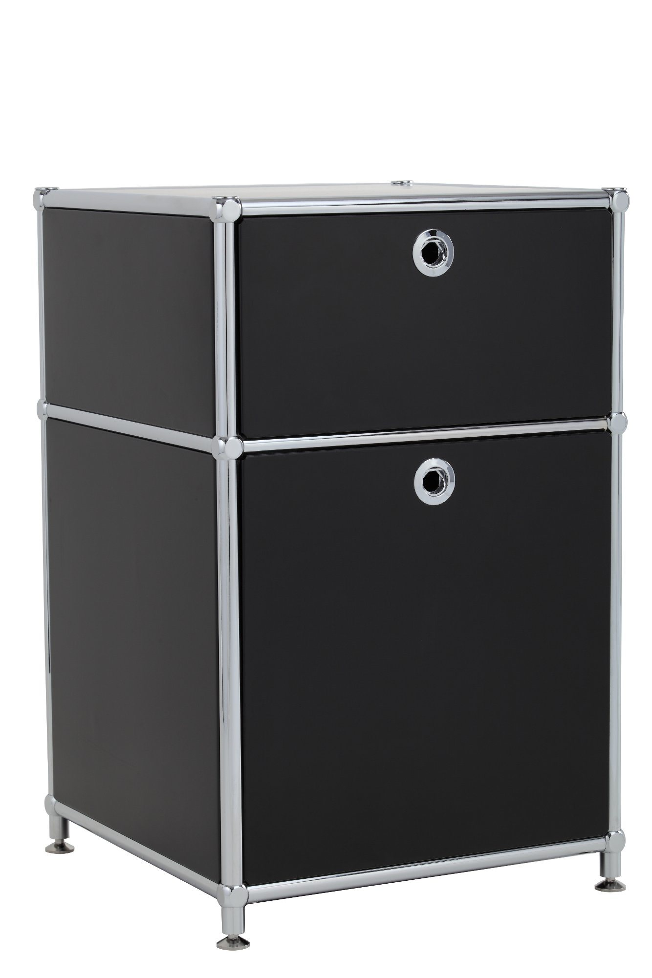 Transcube Stainless Steel Modern Two Tiers Modular Cabinet