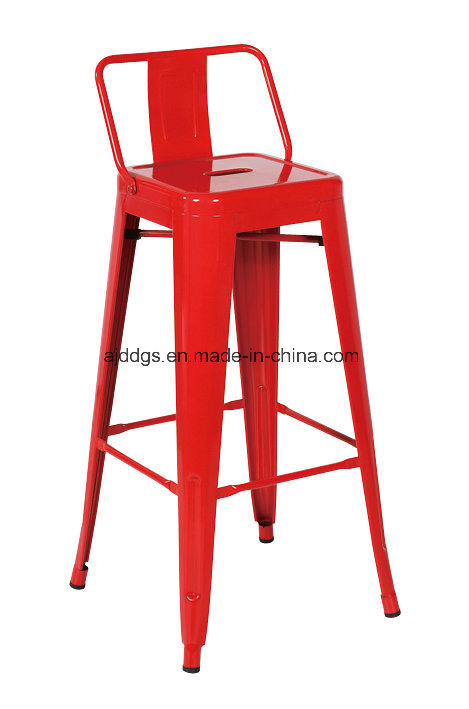 Iron Stool Metal Bar Stool with Armrest