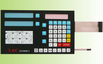Industrial Embossed Waterproof Membrane Switch / Membrane Switch Keypad