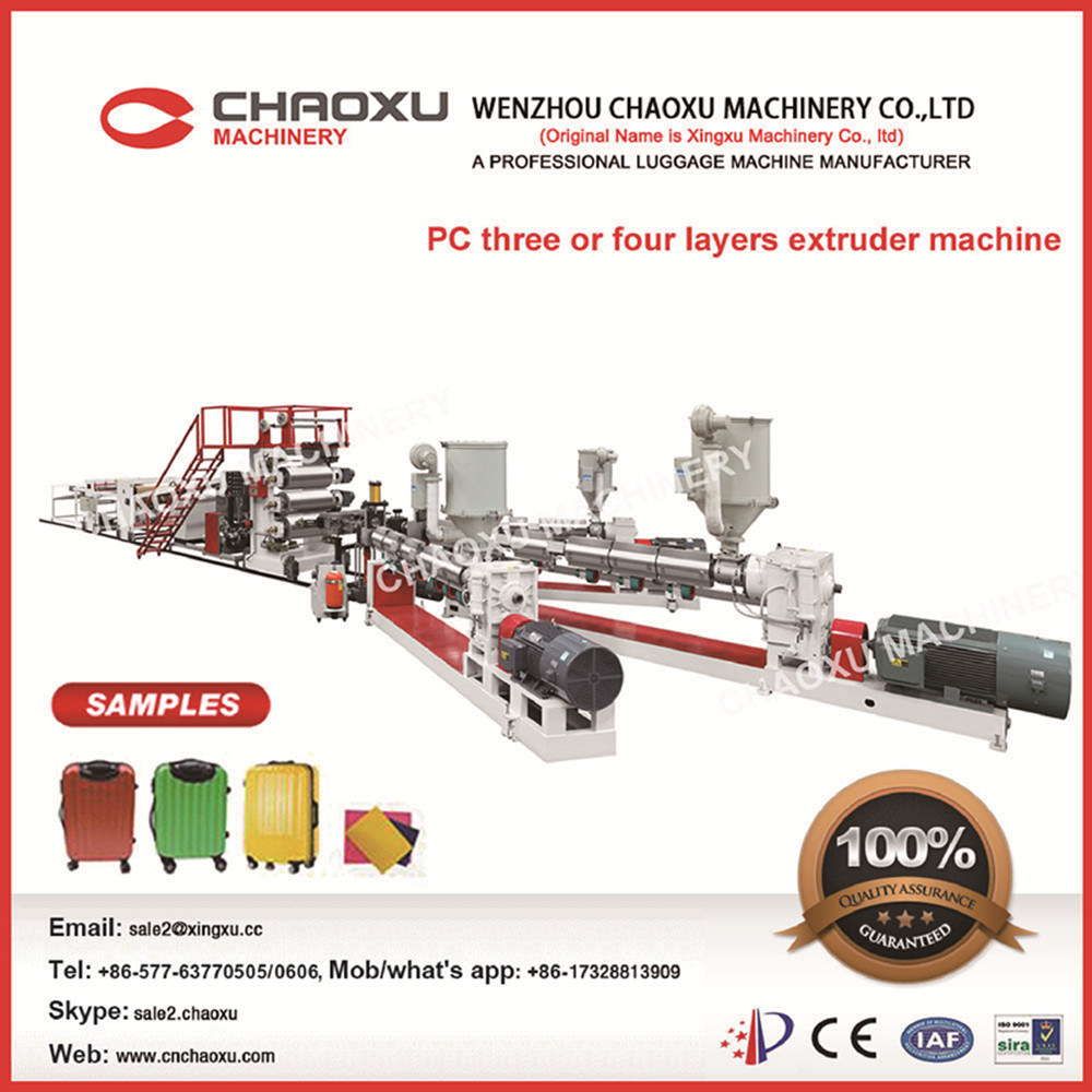 PC Sheet Machinery Double-Screws Plastic Sheet Extruder