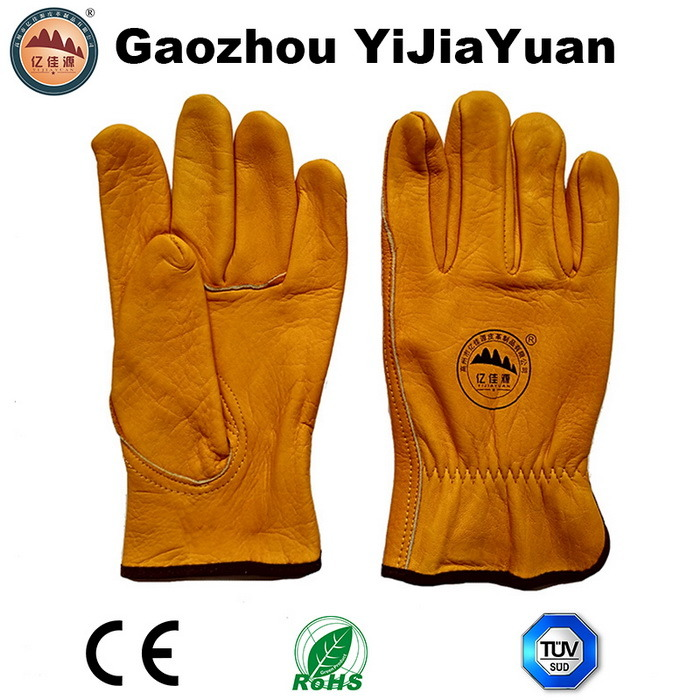 Safety Leather Drivers Working Gloves