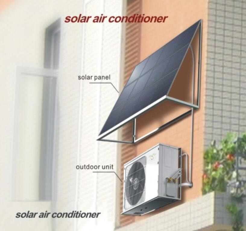 100% 48V Split Solar Power Air Conditioning System with 9000-24000BTU