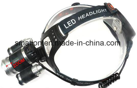 Rechargeable Chargeable Aluminum 1000lm 10W CREE LED Hunting Head Light