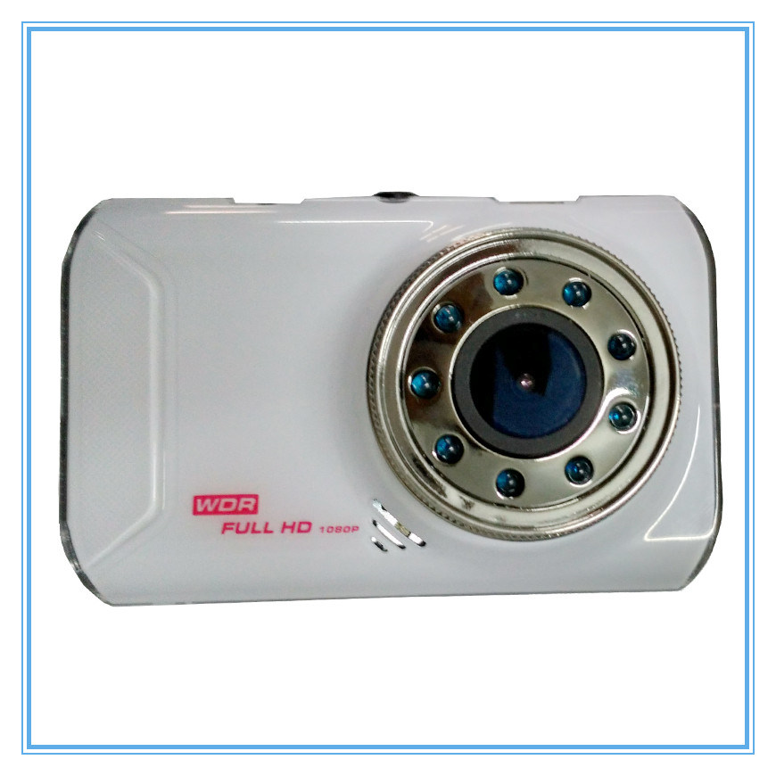 Novatek White Car Camera with 9 IR Lamps Night Vision