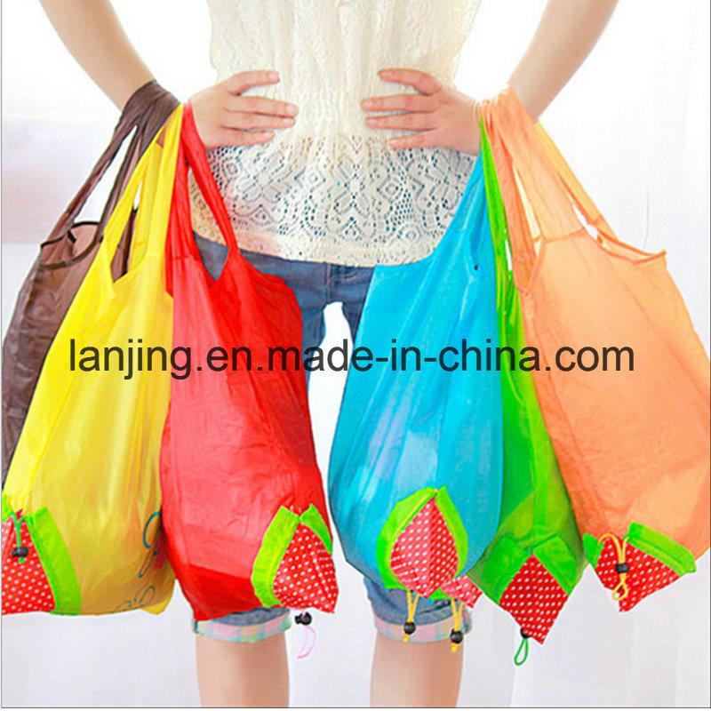 Bw1-080 Nylon/Polyester Reusable Strawberry Foldable Bag Gift Shopping Bags