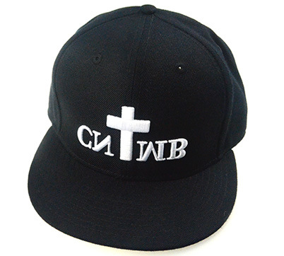 Custom Caps and Hats Black 6 Panels Cotton Cap Snapback