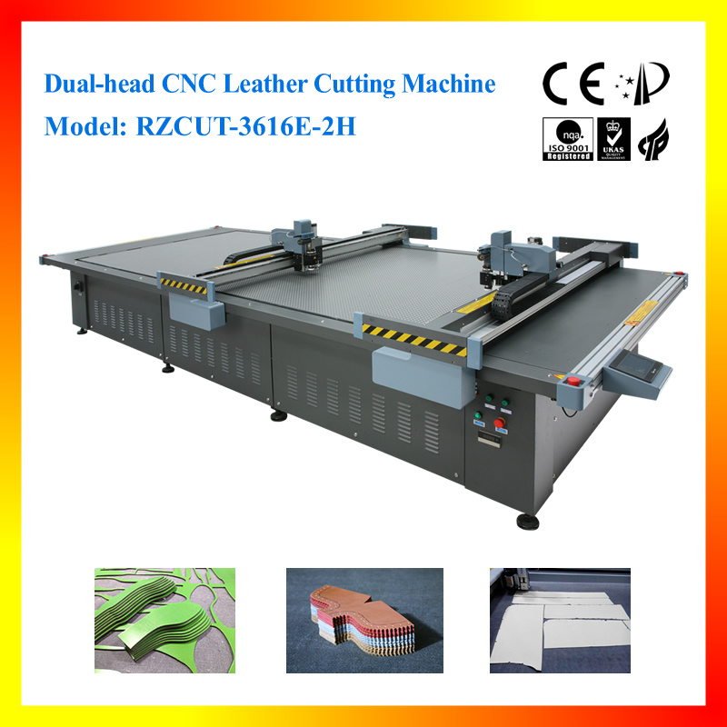 Dual-Head CNC Leather Cutting Machine for Leather Goods