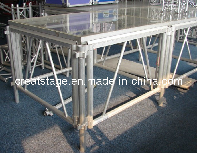 Aluminum Moving Clear Stage