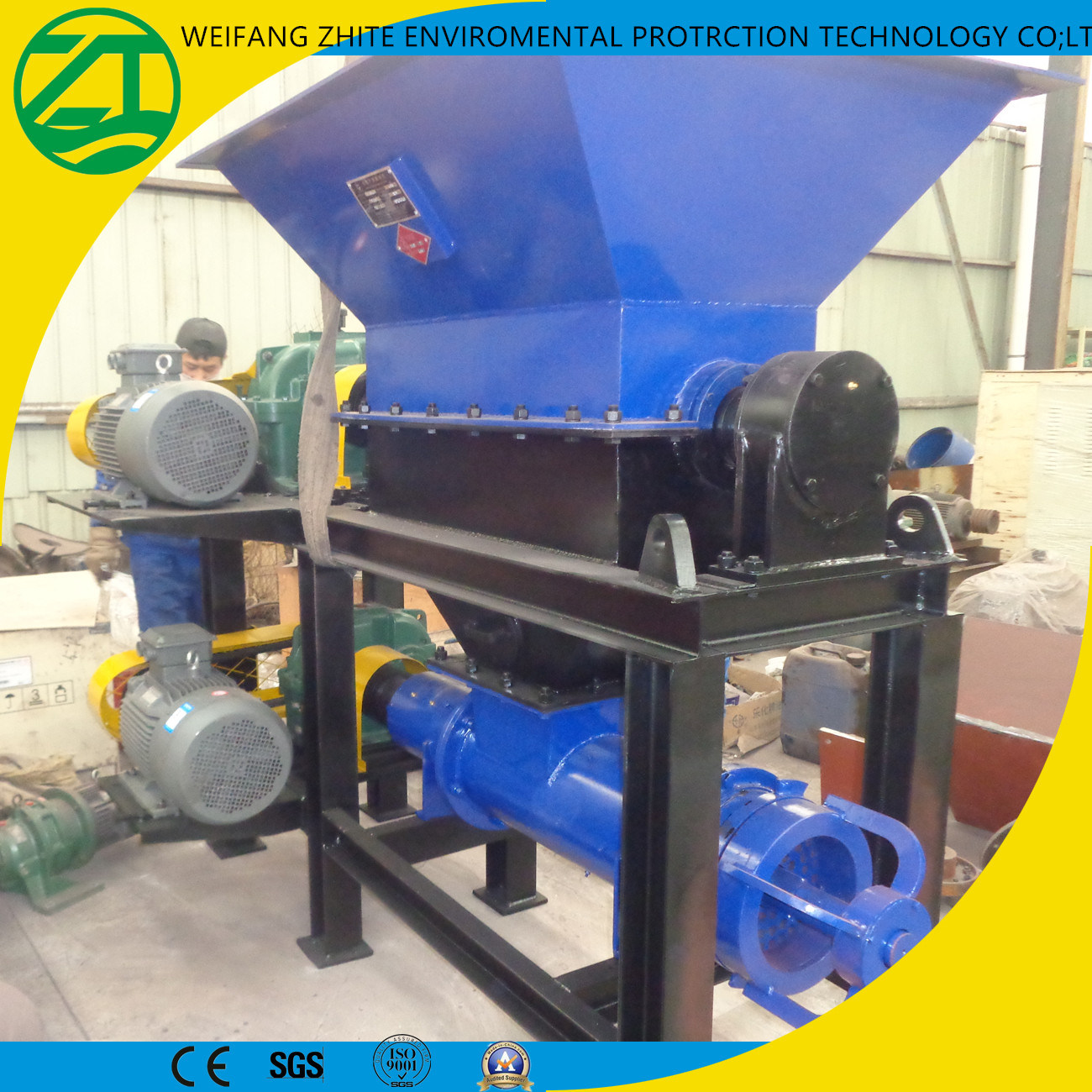 Industrial Shredder for Dead Pigs/Cows/Sheep/Animal Bone/Municipal Waste