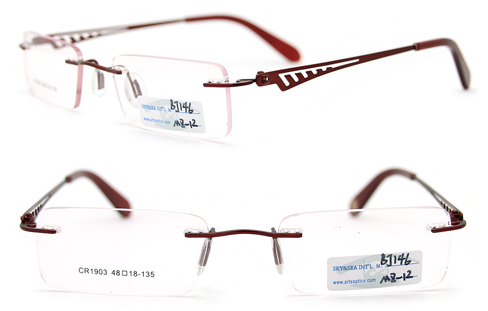 latest frames of spectacles  China Spectacles Frame Rimless Metal Glasses (BJ12-146) Photos ...