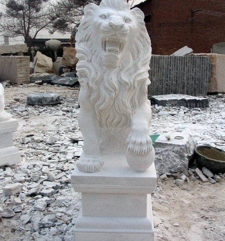 Marble Garden Animal Stone Lion Carving