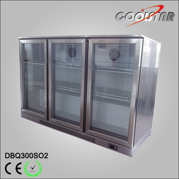 Stainless Steel Three Open Door Bottle Cooling Showcase (DBQ-300SO2)
