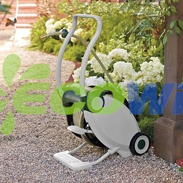 Automatic Garden Hose Reel with Foot Operation