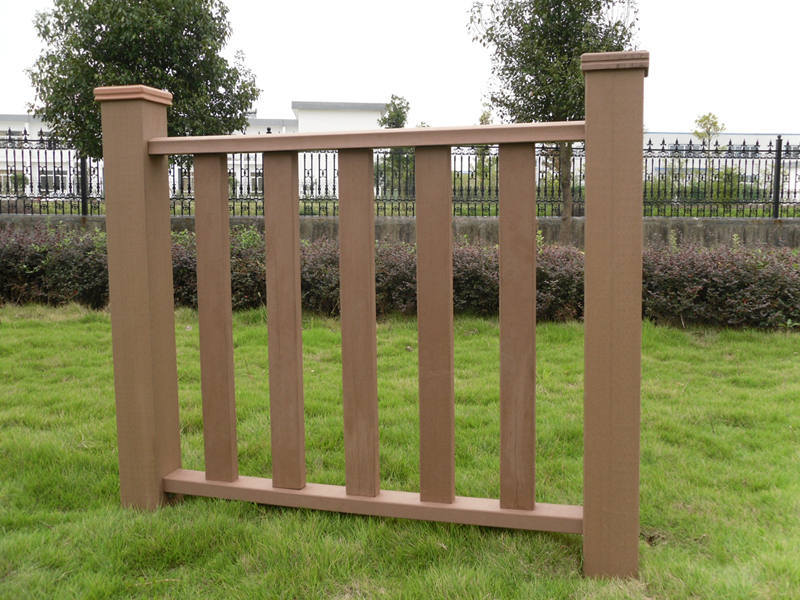 Plastic de madera composite terrace fencing terrace for Terrace fence