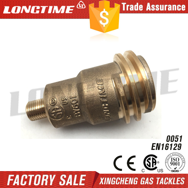 Qcc1 Acme Nut Gas Fitting with 1/4 Inch Male Pipe Thread