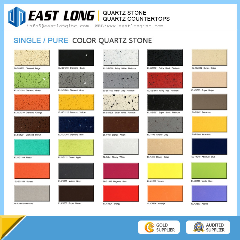 Pure Color Quartz Stone Slabs, Pure White Quartzite Stone, Pure Black Quartz Kitchen Countertop
