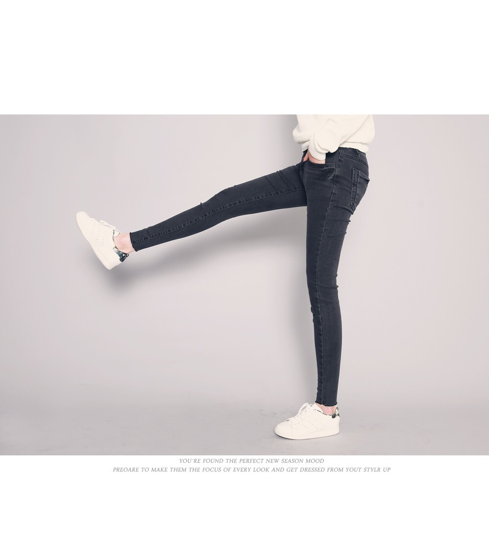 2017 New Lady′ S Cotton Stretch Denim Jeans