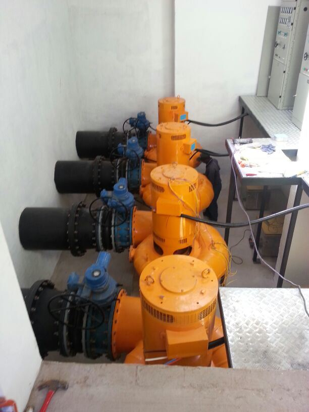30kw-100kw Cross Flow Turbine Small Hydro Turbine Water Turbine Generator Power Generator