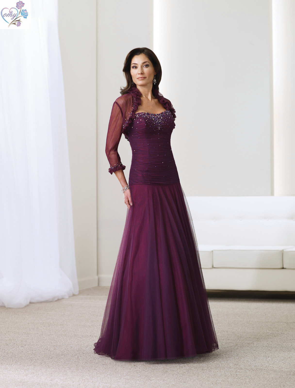 Purple Mother Of The Bride Dresses - High Cut Wedding Dresses