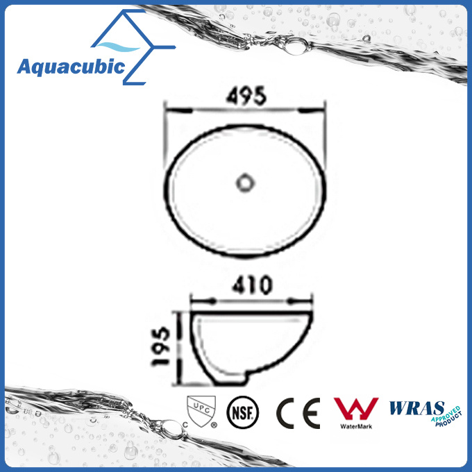 Sanitary Ware Bathroom Basin Undermount Ceramic Sink (ACB2001A)