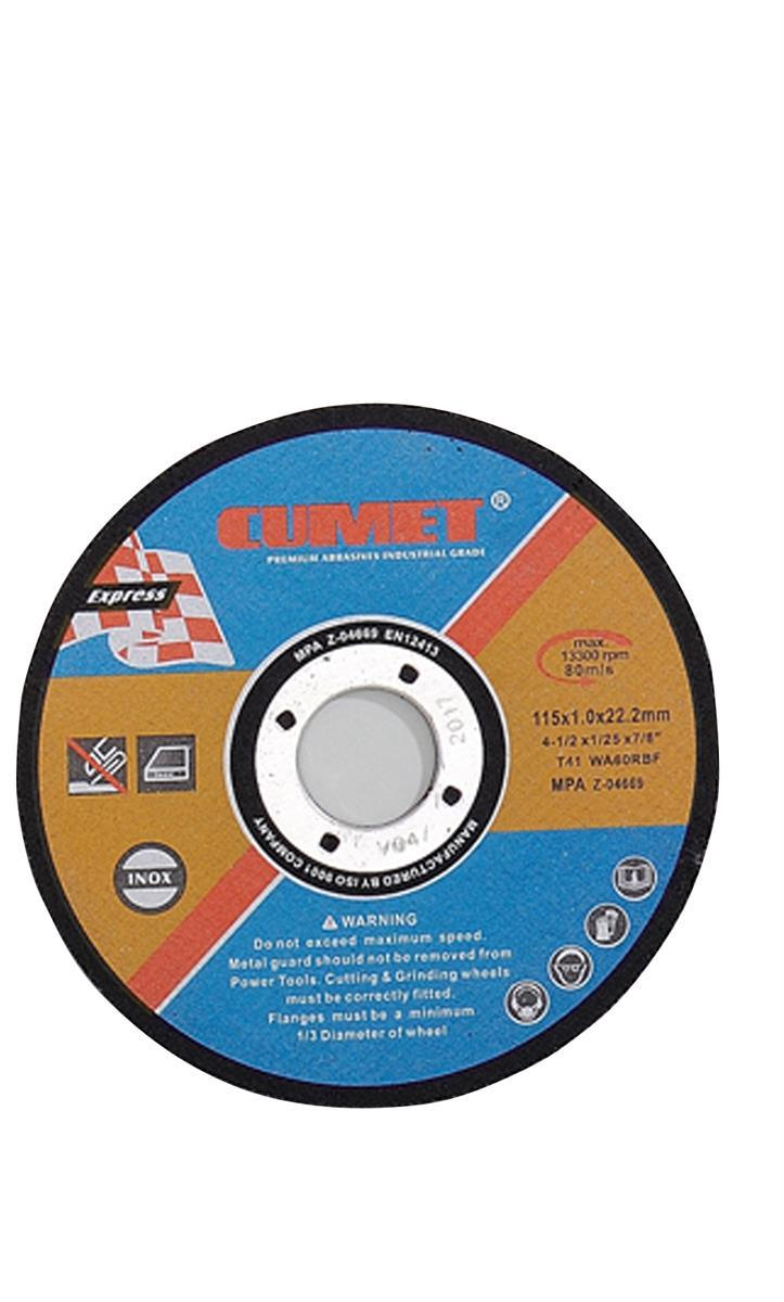 Flat Cutting Wheel for Stainless Steel (115X1X22.2mm) Abrasive with MPa Certificates