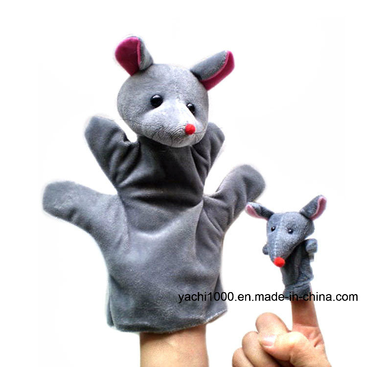 Christmas Gift Animal Shaped Hand and Finger Stuffed Puppet Plush