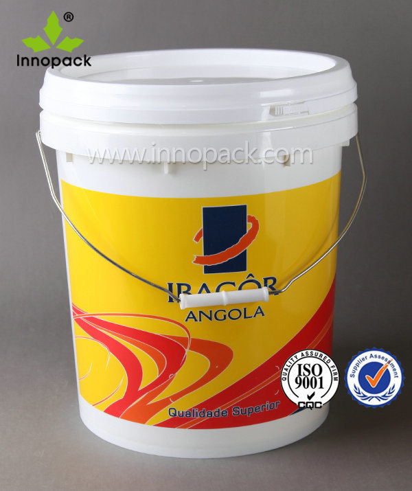 5 Gallon 20L Plastic Pail with Spout, Rubber Seal Optional Colors
