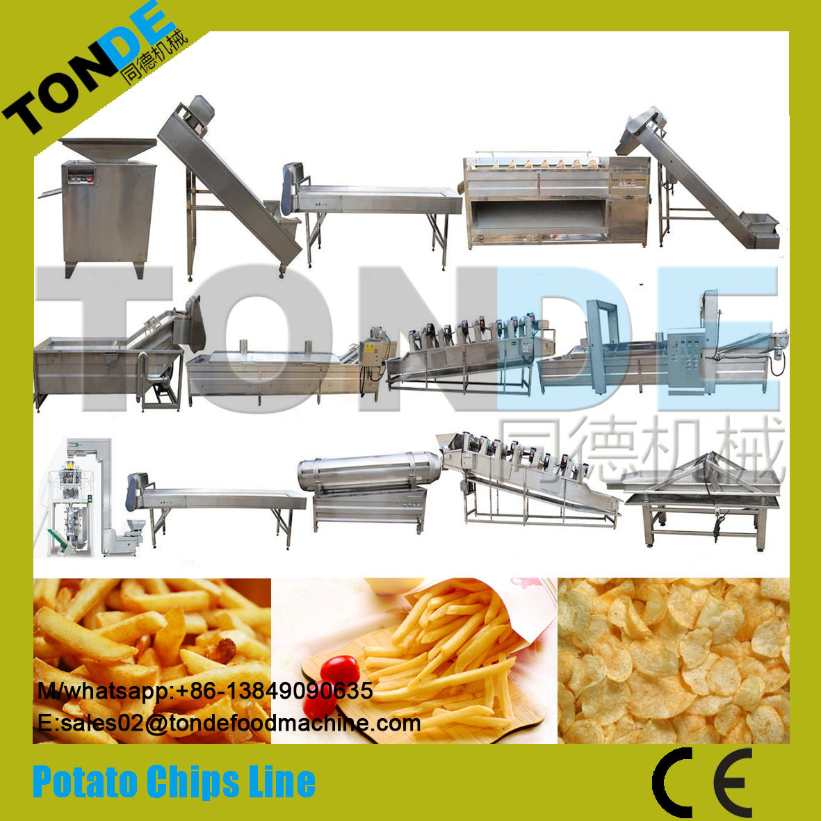 50kg/H Industrial Purple Sweet Potato Chips Crisps Making Machine