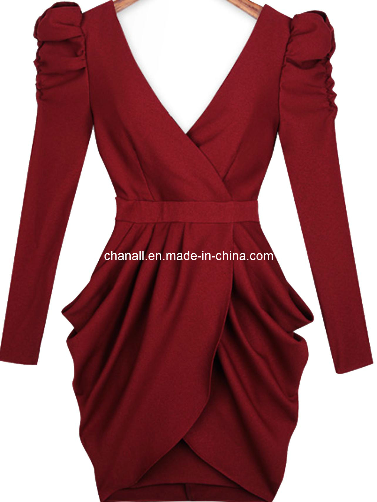 China lady fashion fall winter cocktail dress chnl for Formal dresses for winter wedding