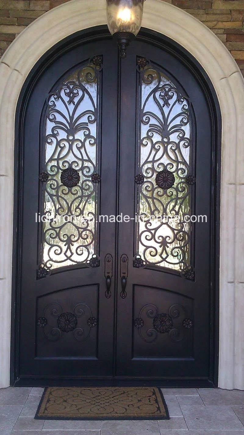 Wholesale Wrought Iron Door for Villa Custom Design