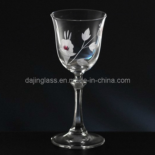 Crystal Goblet with Tulip Flower (G021.4368YY)