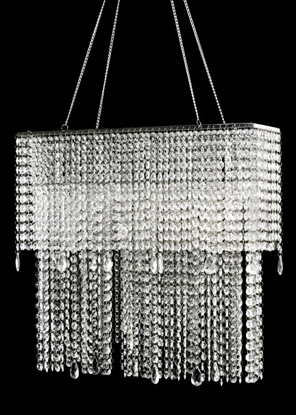 19in Oblong Crystal Chandelier for Wedding Event Decor
