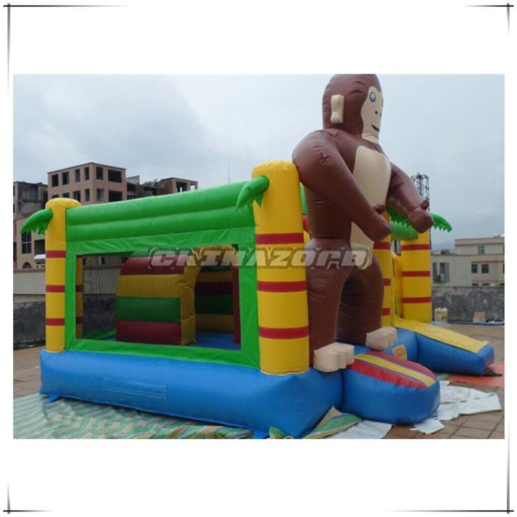 New King-Kong Funny Gorilla Inflatable Bouncer Slide Combo Top Quality