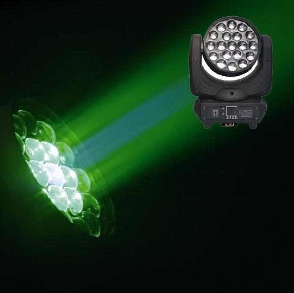 19PCS 12W RGBW LED Zoom Moving Head Light