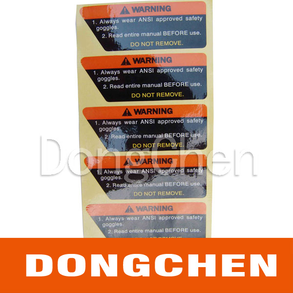 Silver Foil CE UL Electronic Warning Battery Label