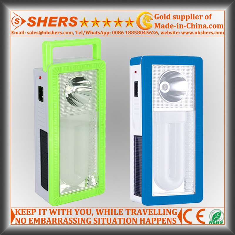 Rechargeable 22 LED Solar Emergency Light with 1W Flashlight (SH-1903B)