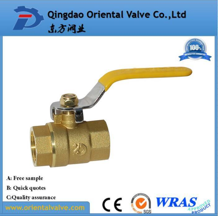 1/4, 3/8, 1/2 NPT Pneumatic Cheap Brass Ball Valve for Water Air Oil and Gas