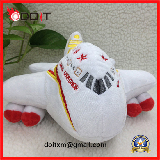 Custom Made Stuffed Plush Plane Aircraft Toy for Hong Kong Airline Company