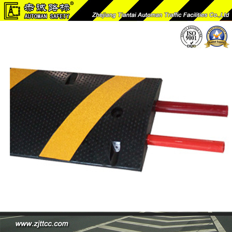 "72"" 2channels Cabling Protection Recycled Rubber Hump (CC-B10)"