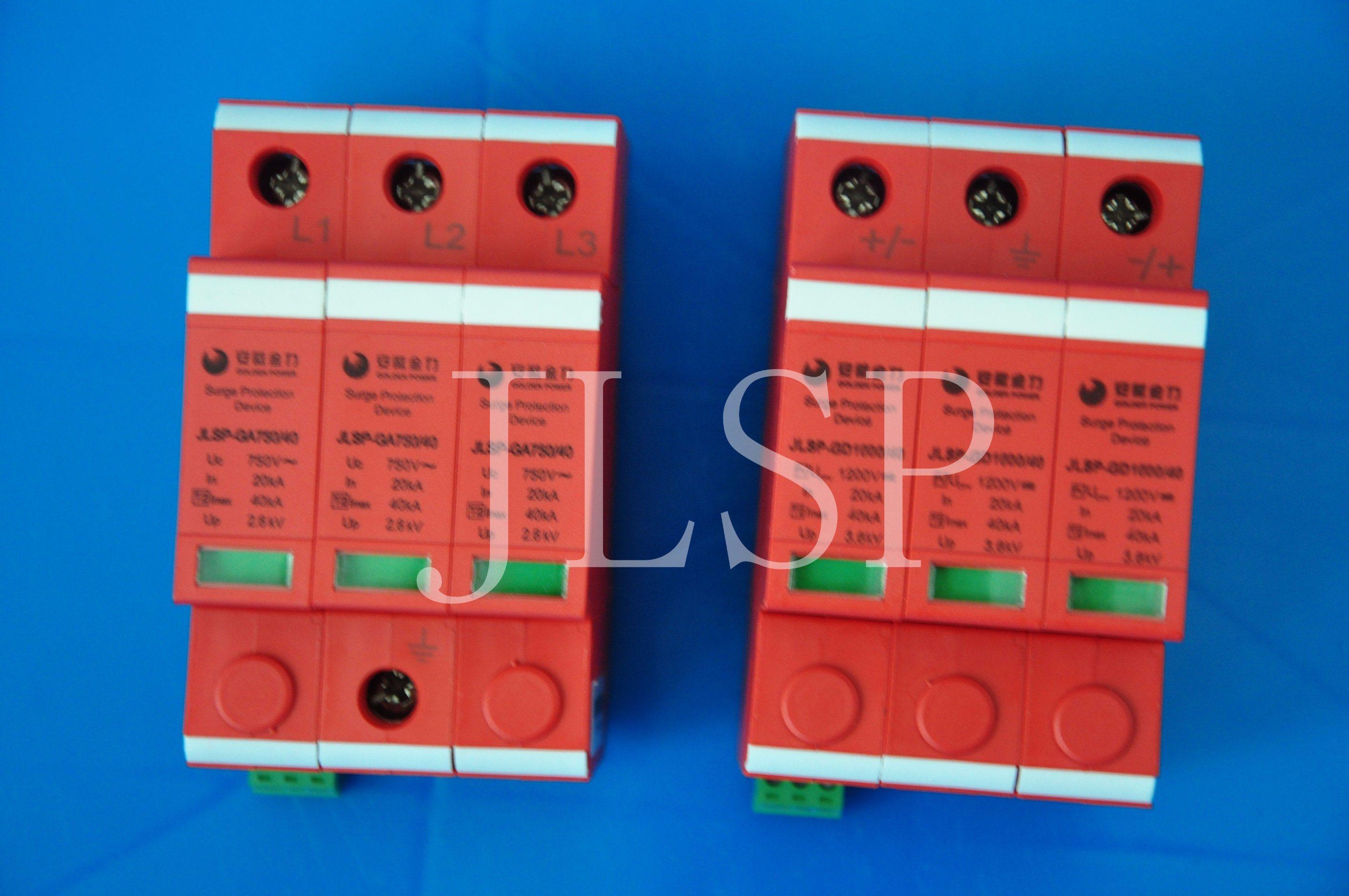PV Application 20-40ka Solar 3p DC 1000V, Jlsp-Gd1000-40, SPD, Surge Protector, 17001