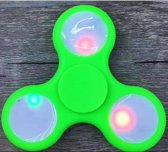 LED Light Fidget Spinner Hand Spinner Finger Spinner Toys EDC Tri Digit Air Aluminum Brass Finger Gyro Copper Gold Alloy Spinner