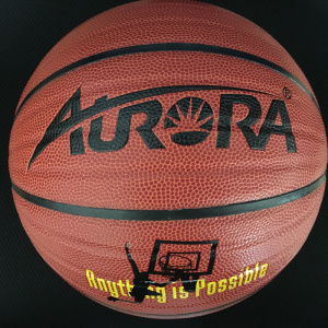 Good Handling PVC Leather Laminated Basketball
