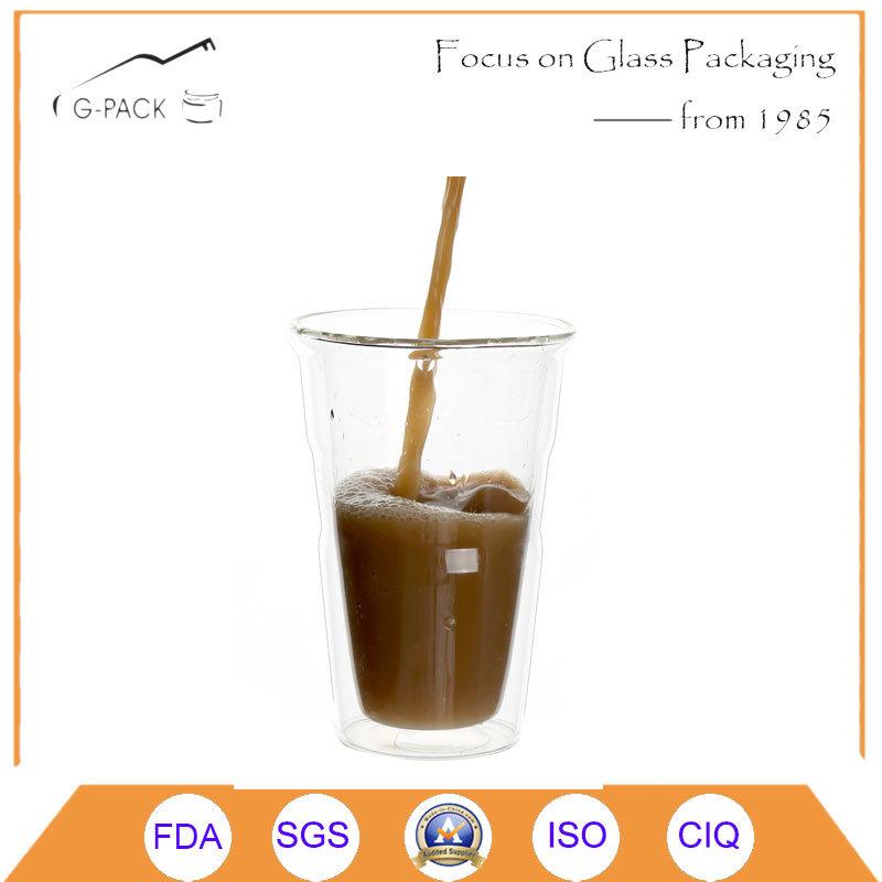 450ml Double Wall Glass Coffee Cup