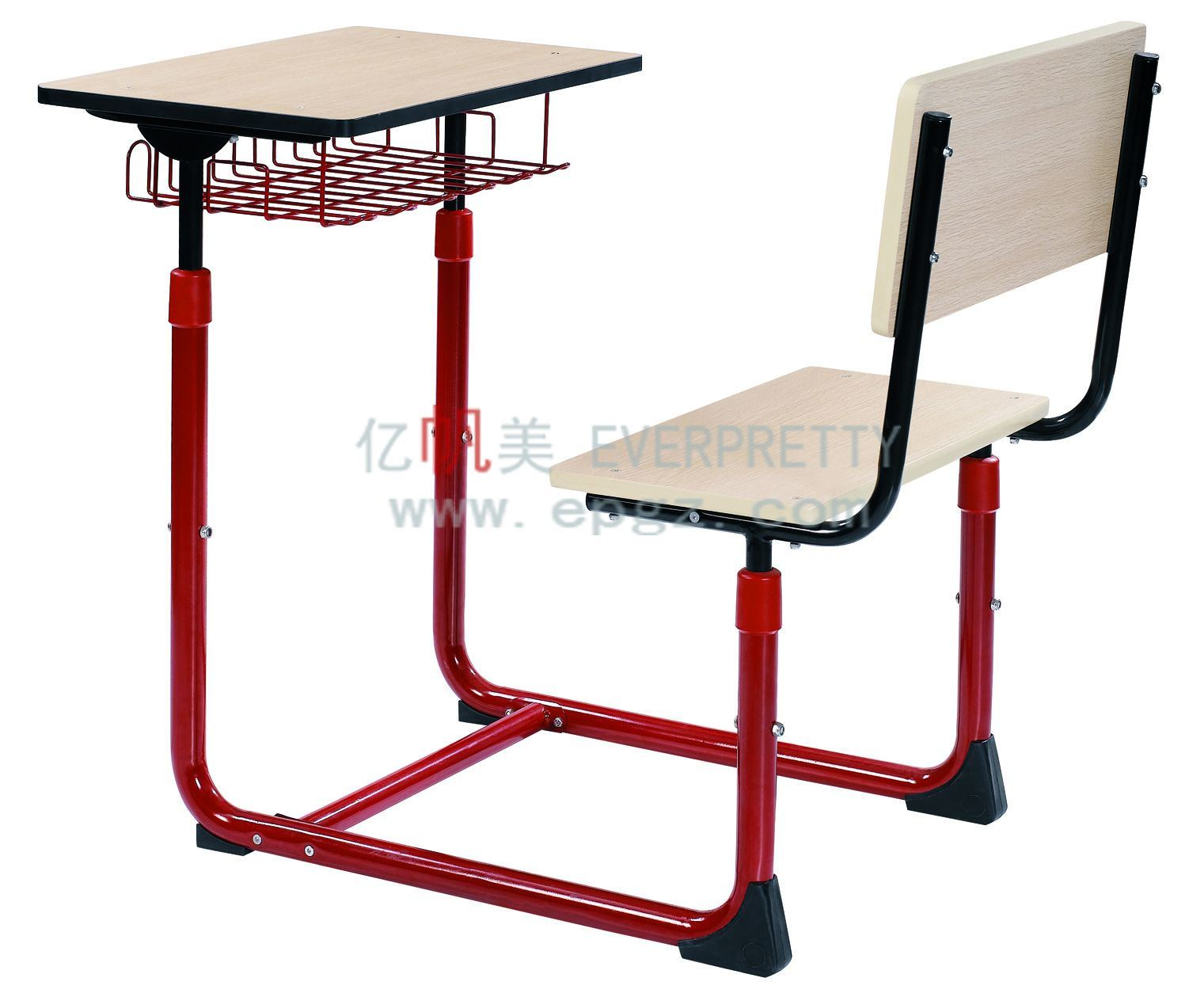 China Adjustable Single Desk and Chair Girl s Desk with