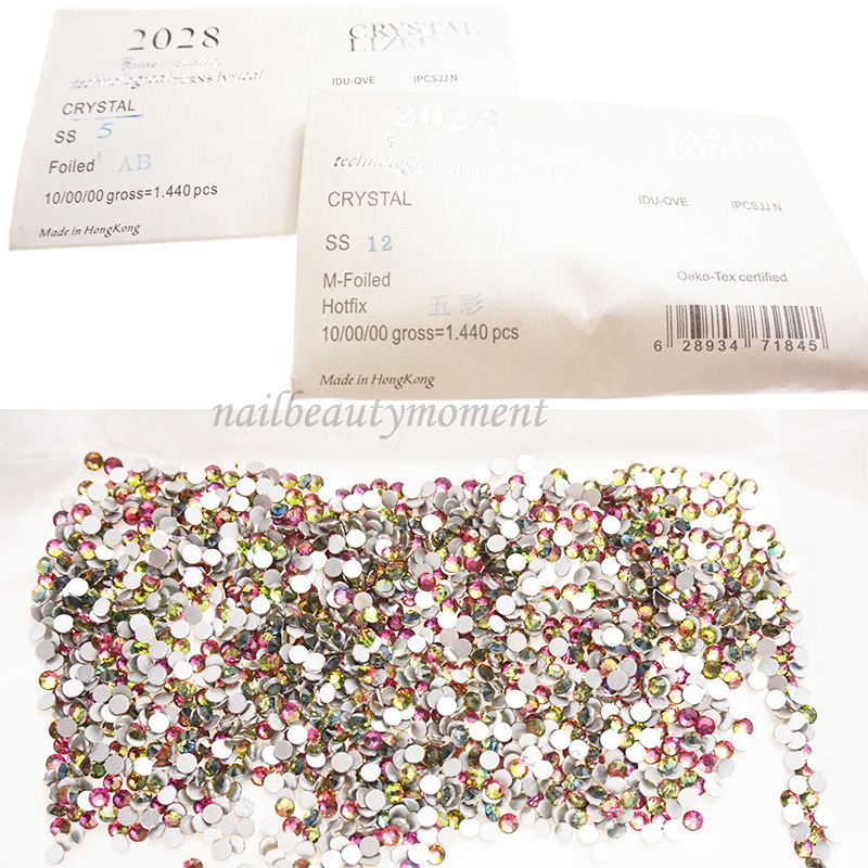 Crystal Flatback Nail Art Ab Rhinestone for Decoration 1440 PCS (D63)