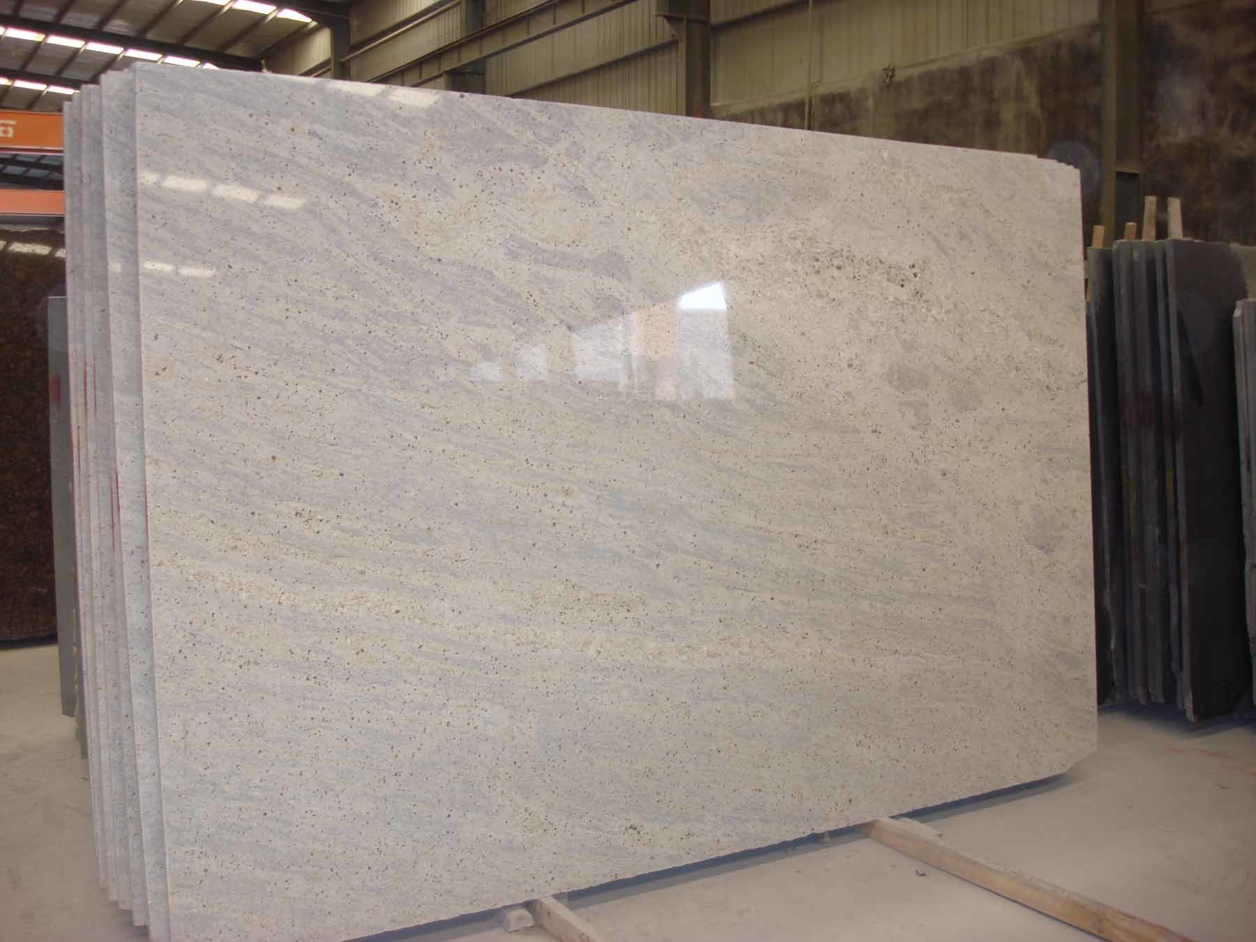 China Kashmir White Granite Slab Polished Kashmir White