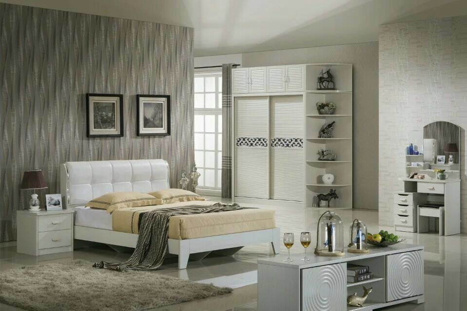 High Quality Cheap Modern Wardrobe, Fashion Bedroom Sets Furniture (9C012)