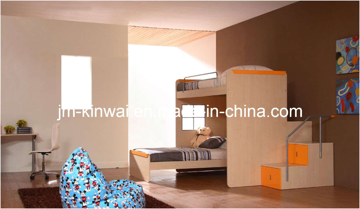 China light oak melamine bedroom set children furniture